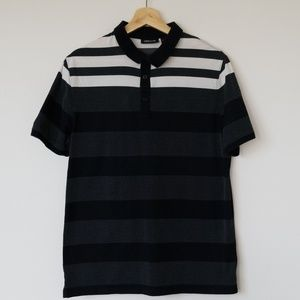 Claiborne Striped Cotton Polo Shirt
